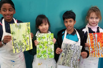 Birch Tree paintings by Creative Kids