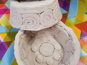 Patterned Clay Bowls