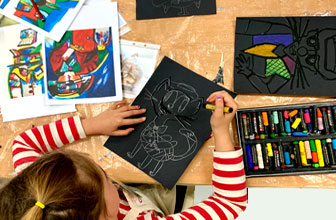Drawing in Creative Kids Art Class