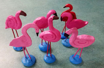 Clay Flamingos by Creative Kids