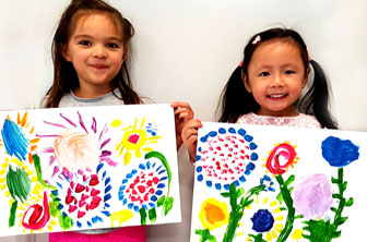 Little Kids Flower Painting