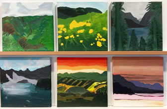 Landscape Pasintings by Art Club classes