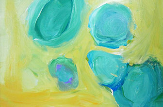 abstract painting by kids
