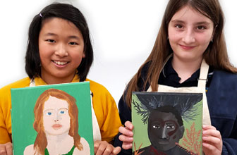 Portrait paintings by Art CLub, Creative Kids Art Classes