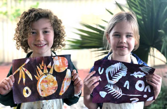 Printmaking with Creative Kids Art Club